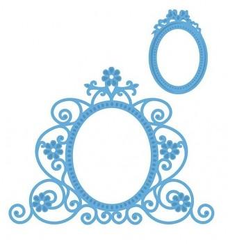 Vyrezávacie šablóny / Flower mirror