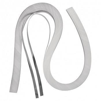 Quillingové proužky - stříbrné / 0,6 cm / 100 ks