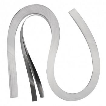 Quillingové proužky - stříbrné / 0,9 cm / 100 ks