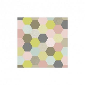 Serviette Big Hexagon / 1St.
