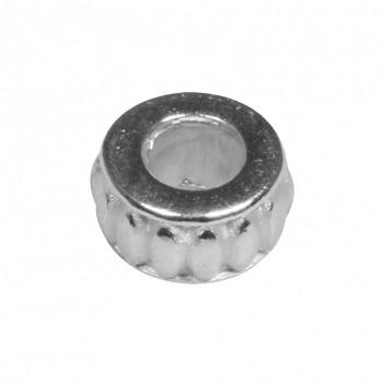 Kovový korálek 9mm / 1ks / stříbro
