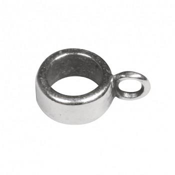 Kovový dekoratívny prvok s okom / 8mm / strieborný
