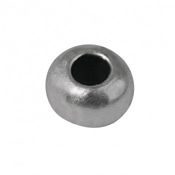 Metal bead, 8mm ø silver / 5szt