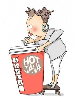Stempel gumovy / Cathy Caffeine