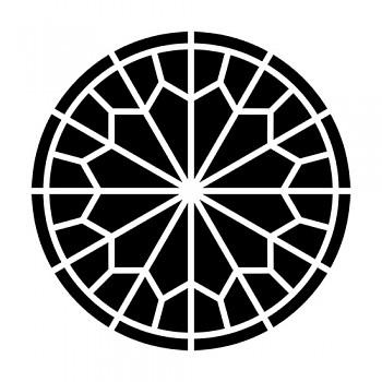 """Mini šablóna / 6x6"""" / Rose Window"""