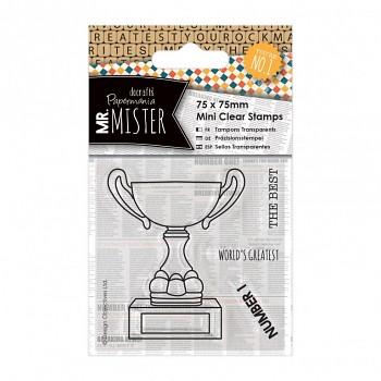 Transparentné razítka / 75x75mm / Mr Mister - Trophy