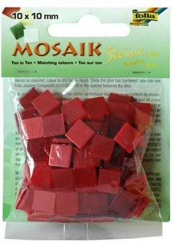 Mosaic 10x10mm / red