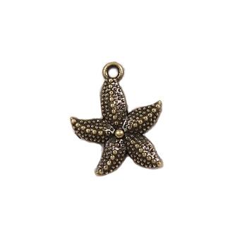 Kovová ozdoba / Starfish / 19x23mm
