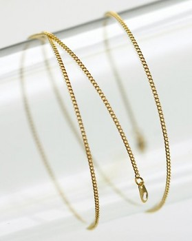 Metal-element chain with clasp / 50cm / gold