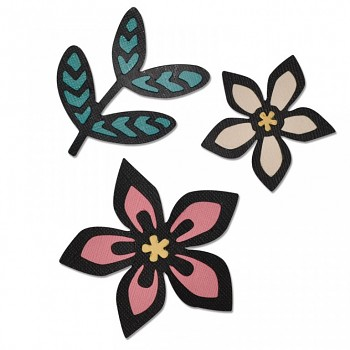 Thinlits Die Set 3PK - Intricate African Florals
