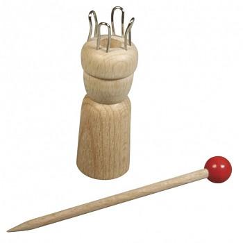 Holz Strickliesel mit Nadel / 2,4cm