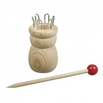 Holz Strickliesel mit Nadel / 3,4cm