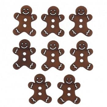 Gombíky - Gingerbread man / 8ks