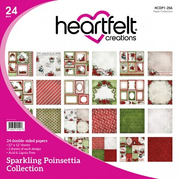 Sparkling Poinsettia / 12x12 / Sada papierov