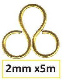 Aluminium wire 2mm 5m gold