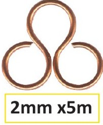 Aluminium Draht 2mm 5m orange copper