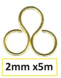 Aluminium Draht 2mm 5m light gold