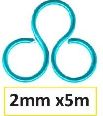 Aluminium wire 2mm 5m turquoise