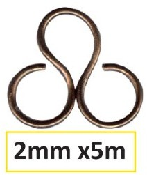 Aluminium Draht 2mm 5m chocolate