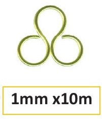 Aluminium wire 1mm 10m apple green
