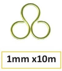 Aluminium drut 1mm 10m apple green