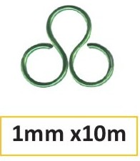 Aluminium wire 1mm 10m dark green