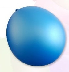 Ballon standard 30cm, 2,8g / 10pcs / metallic blue