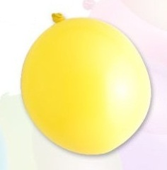 Ballon standard 30cm, 2,8g / 10pcs / yellow