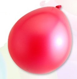 Ballon standard 30cm, 2,8g / 10pcs / metallic red