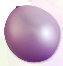 Balón standardní 30cm, 2,8g / 10ks / metalická fialová