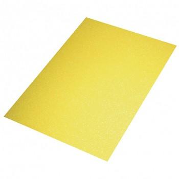 Machová guma A3, 2mm / glitrová žltá