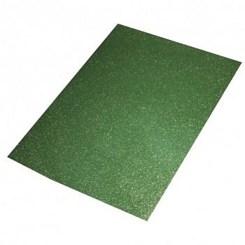 Machová guma A3, 2mm / glitrová zelená