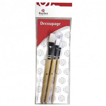 Pinselset für Decoupage
