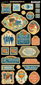 Worlds Fair Decorative Chipboard