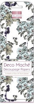 First Edition FSC Deco Mache / 3ks / Flower Vines