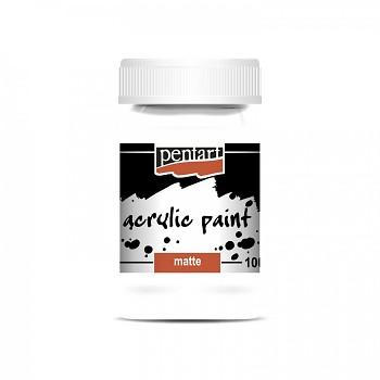 Pentart akrylová farba matná 100ml / white