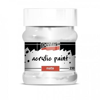 Pentart akrylová farba matná 230ml / white