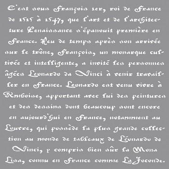 """Template / 12x12"""" / Franz. Schrift"""