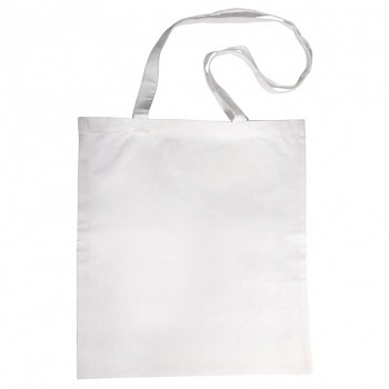 Baumwoll-Tasche mit langen Henkeln weiß