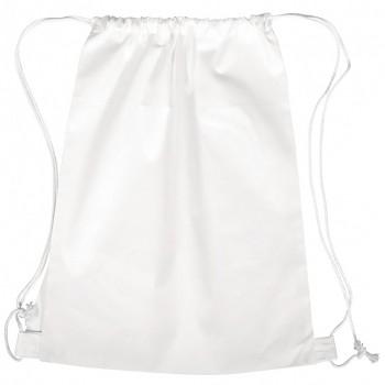 Športové vrecúško so šnúrkami / biele