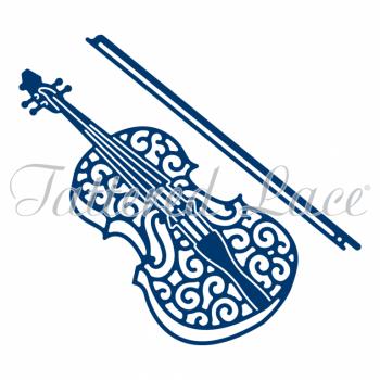 Vyrezávacia šablóna / Lace Violin