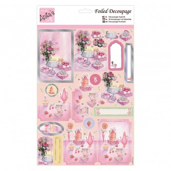 Foiled Decoupage - Cake & Presents