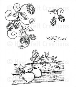 Cling Stempel Set / Berries and Peaches