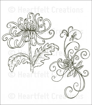 Cling Stempel Set / Enchanted Mum Bouquet