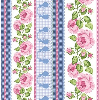 Filz 30x30cm /1mm / Roses Bordures