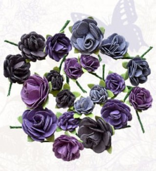Handmade paper rose hill purple / 20St.