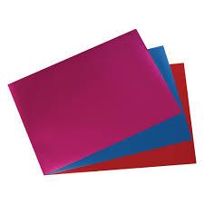 My Style / metalická fólia A4 / 3ks / červená, modrá, fialová