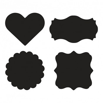 Set blackboard foil stickers / 12pcs