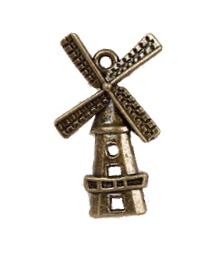 Kovová ozdoba / Windmill / 28x17mm