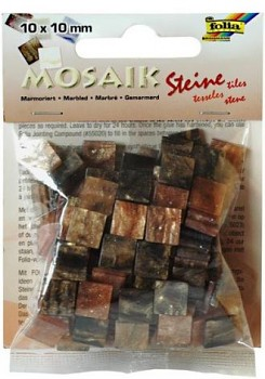 Mosaik 10x10mm / brown marble